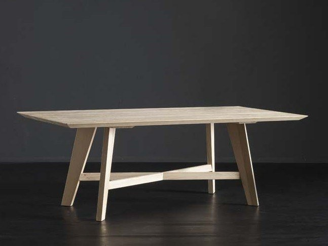 Rectangular wooden dining table TOLEDO + PECHINO by AltaCorte