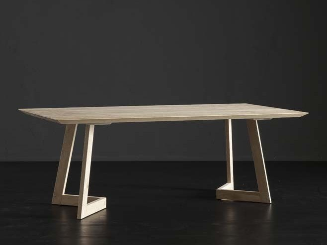 Rectangular wooden dining table TOLEDO + SEVEN by AltaCorte