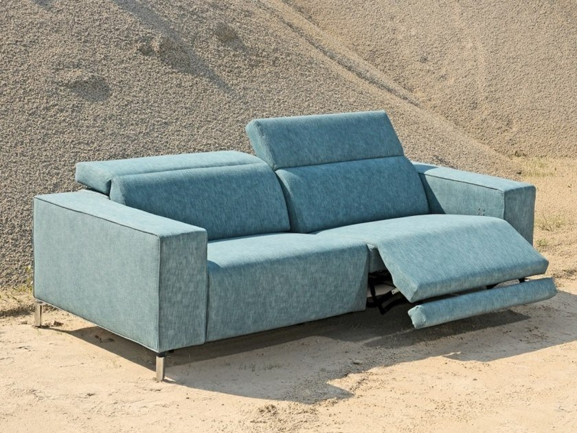 Recliner fabric sofa with electric motion TOMAS | Fabric sofa by Gobbo Salotti