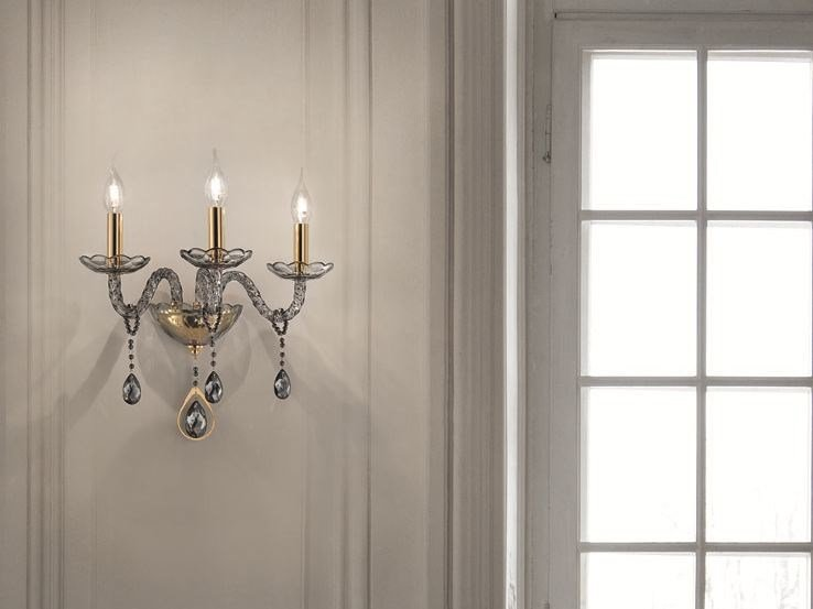 Wall light with Swarovski® crystals TOOCHIC A3 by Euroluce Lampadari