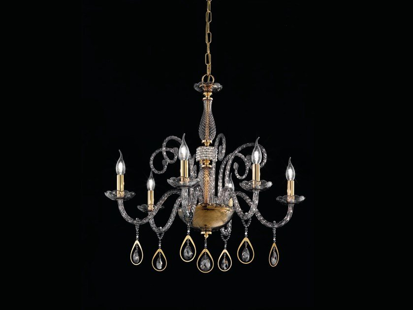 Chandelier with Swarovski® Crystals TOOCHIC L6 by Euroluce Lampadari