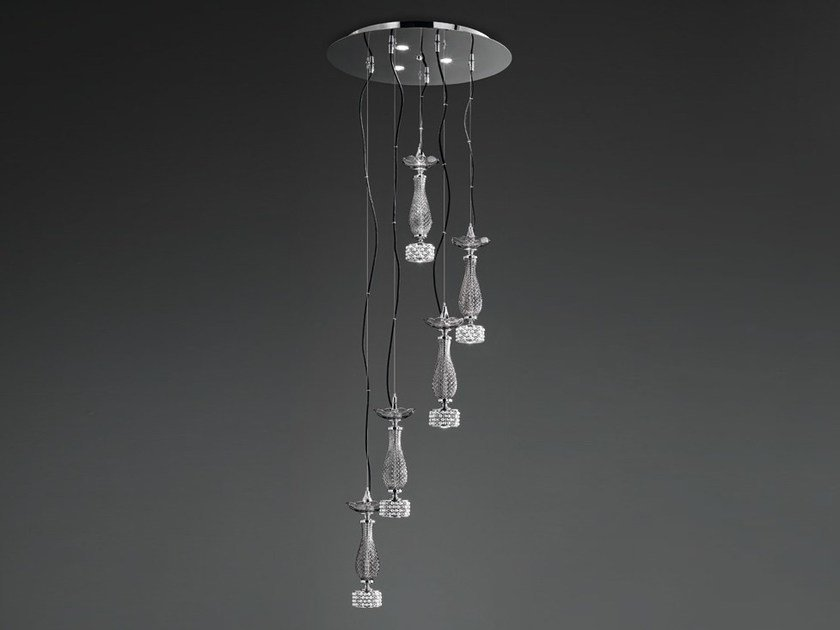 Swarovski® Con Lampadari Sospensione Euroluce Toochic A 3 S5 Cristalli Lampada SzVMqGUp