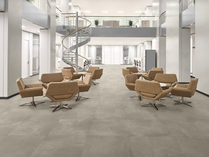 Porcelain stoneware flooring with concrete effect TOOL by MARGRES