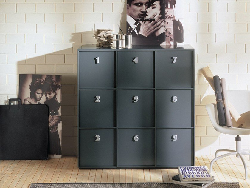 Composable unit with drawers and doors TOOLBOX by EmmeBi