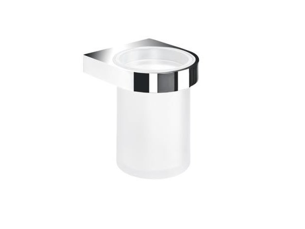 Wall-mounted glass toothbrush holder SYSTEM 800 | Toothbrush holder by HEWI