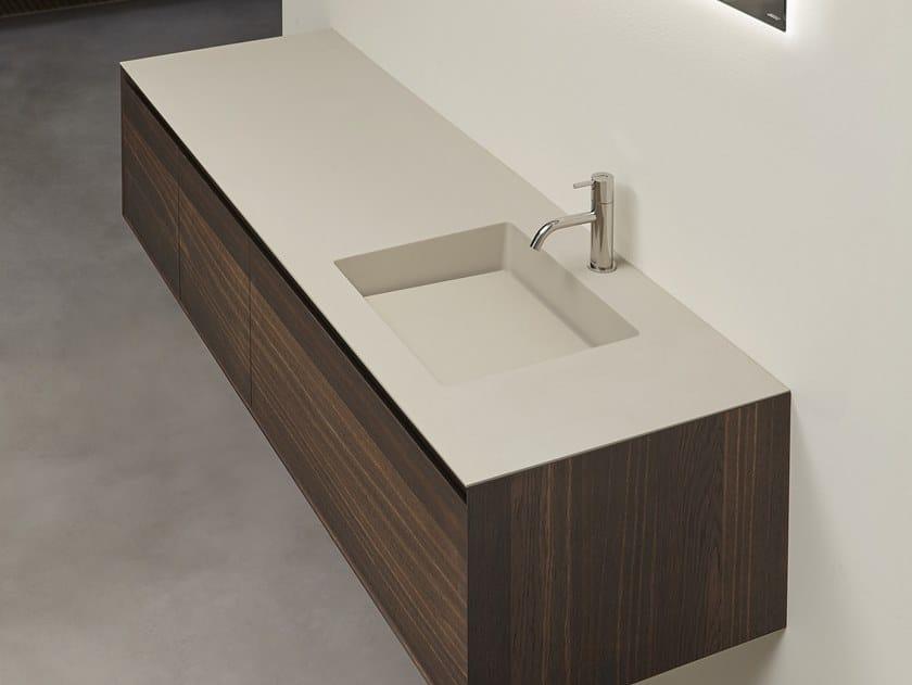 Washbasin with integrated Quarzomood countertop Quarzomood top by Antonio Lupi Design