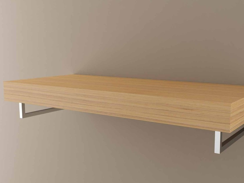 Wooden bathroom wall shelf TOP by Flora Style