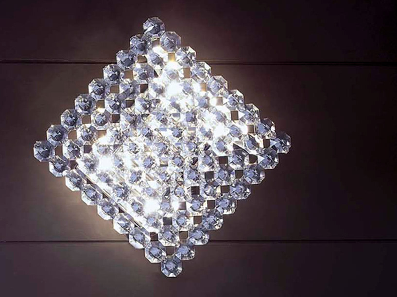 Crystal wall light TOPAZIO by Marchetti