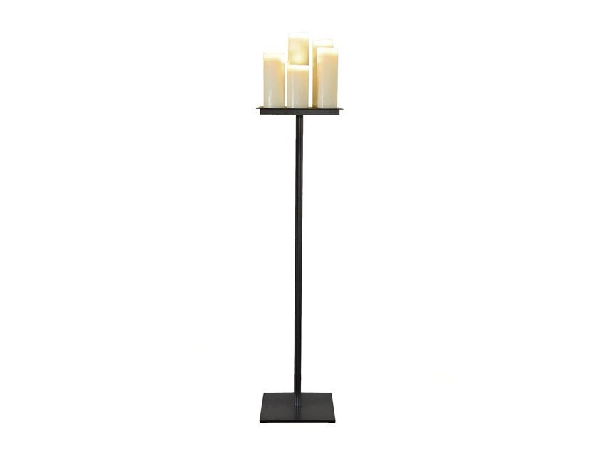 Indirect light steel floor lamp TORCHERE by Kevin Reilly Collection