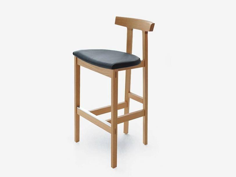 Wooden stool TORII COUNTER | Stool by BENSEN