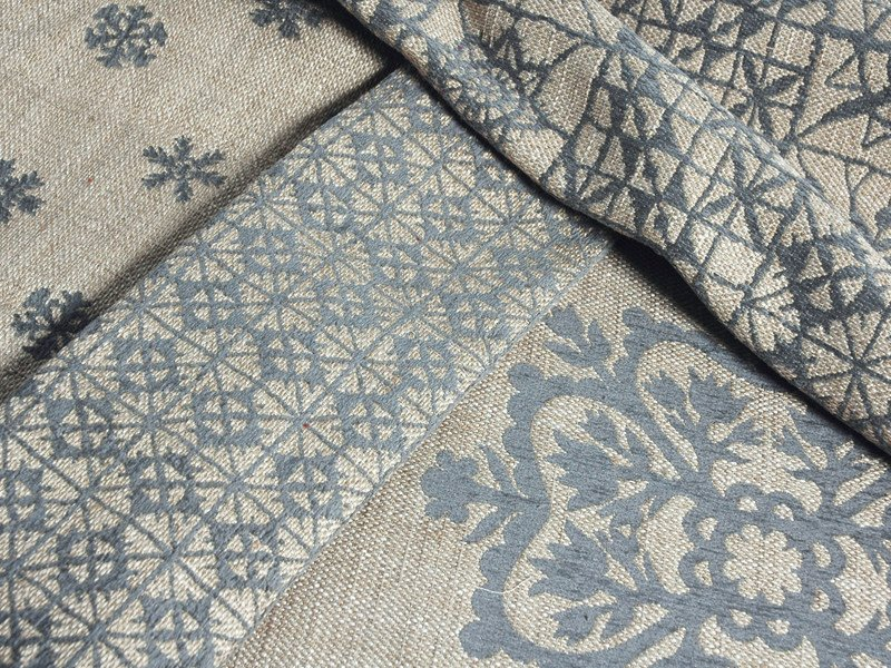 Jacquard fabric with graphic pattern TORINO 06 GEO by l'Opificio