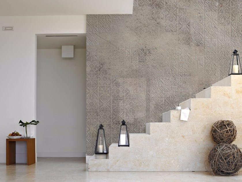 Stone effect panoramic wallpaper TORINO 06 PIZZO by Inkiostro Bianco