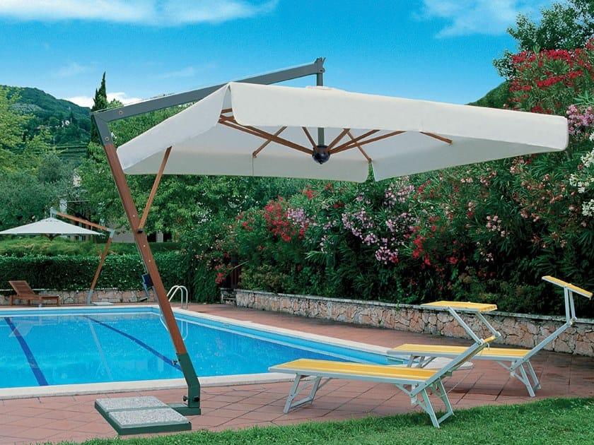 Offset aluminium and wood Garden umbrella TORINO BRACCIO | Garden umbrella by Scolaro Parasol