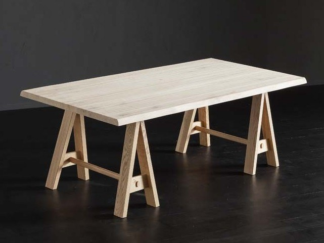 Rectangular solid wood dining table TORONTO + HORSE by AltaCorte