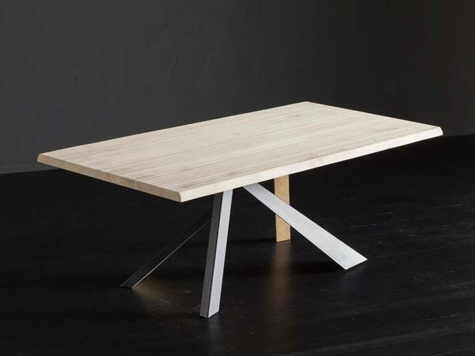 Rectangular oak table TORONTO + METAL/LEGNO by AltaCorte