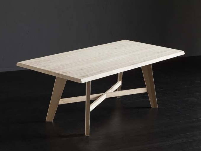 Rectangular oak table TORONTO + PECHINO by AltaCorte