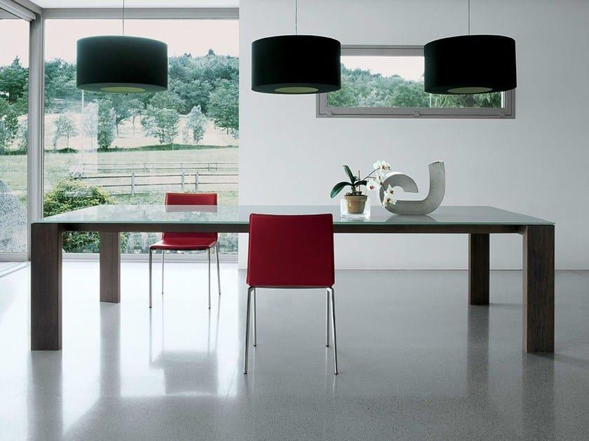 Rectangular wood and glass table TORONTO | Rectangular table by Sovet italia
