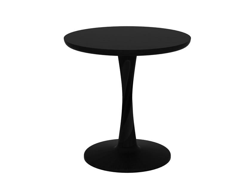 Round oak side table OAK TORSION   Side table by Ethnicraft