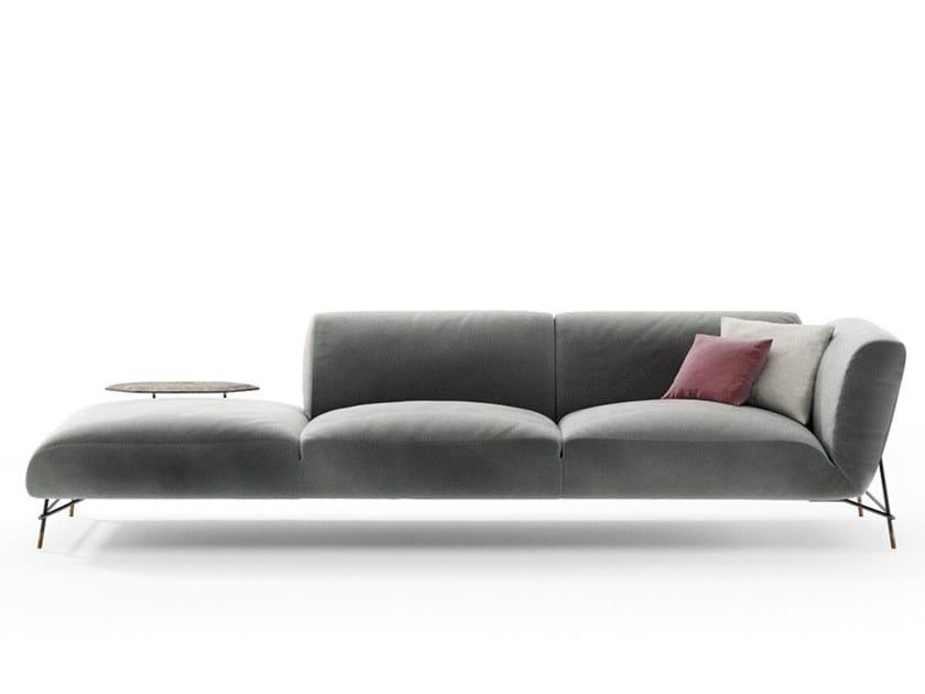 Sectional fabric sofa TORTONA | Fabric sofa by NICOLINE