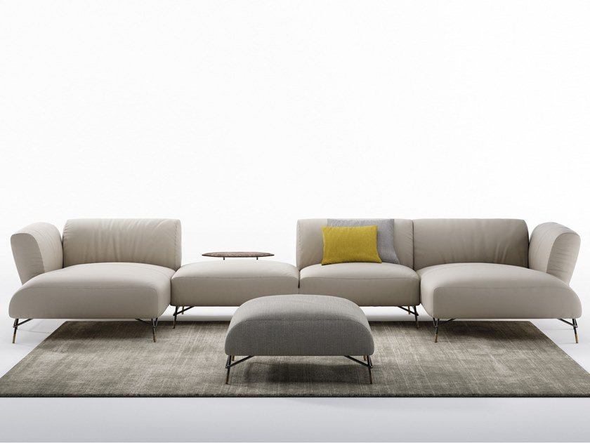 Sectional leather sofa TORTONA | Leather sofa by NICOLINE