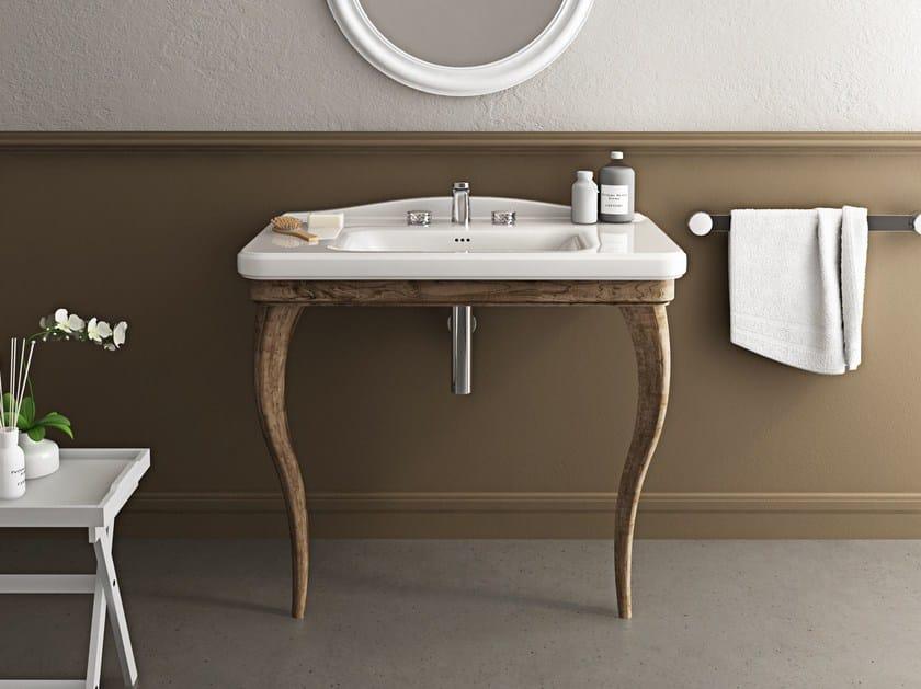 Console ceramic washbasin TOSCA | Console washbasin by Hidra Ceramica