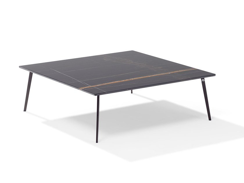 Square marble coffee table TOSCA | Square coffee table by Draenert