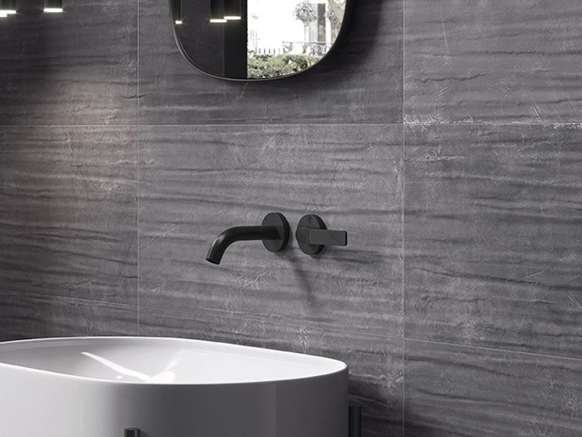 Porcelain stoneware wall/floor tiles with resin effect TOTALOOK ANTRACITE by EmilCeramica by Emilgroup