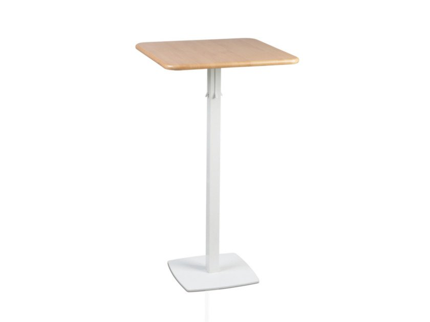 Square MDF high table TOTEM 415 by TALIN