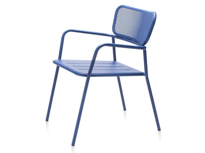 Stackable metal garden chair TOTEM | Chair by Garda Furniture