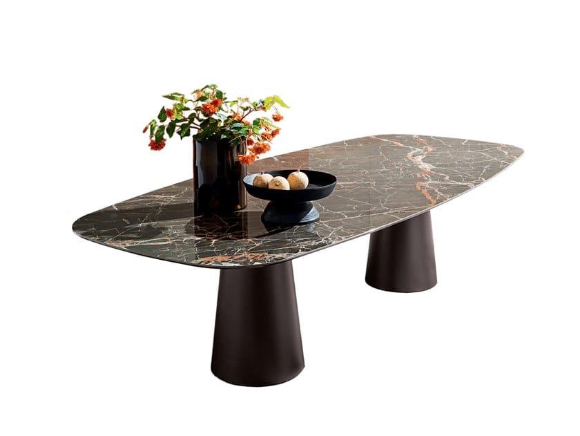 Rectangular ceramic table TOTEM | Rectangular table by Sovet italia
