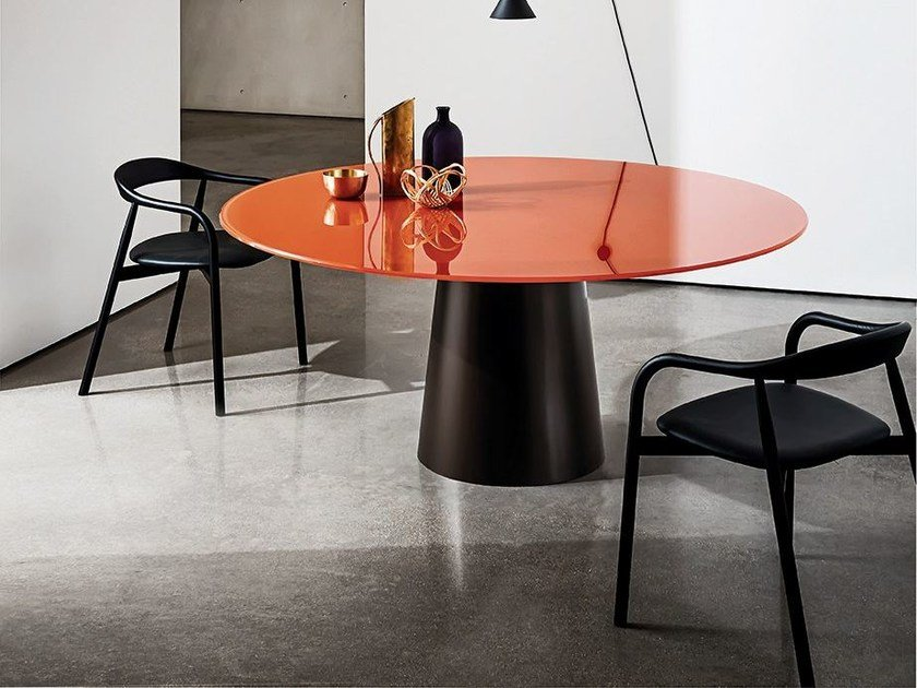 Round glass table TOTEM | Round table by Sovet italia