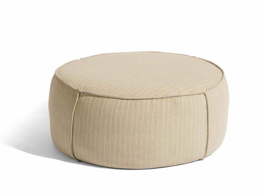 Round fabric garden pouf TOUCH | Round garden pouf by MANUTTI