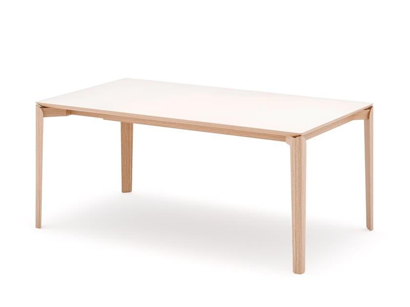 Extending rectangular table TOUCHÉ by SCULPTURES JEUX