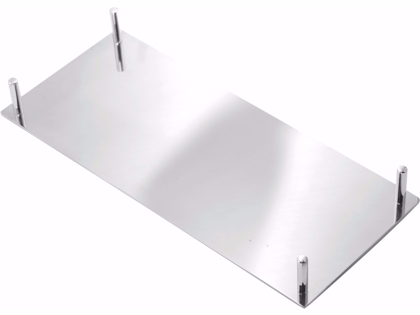 Chromed brass courtesy towel tray ESSENZA | Courtesy towel tray by LINEAG