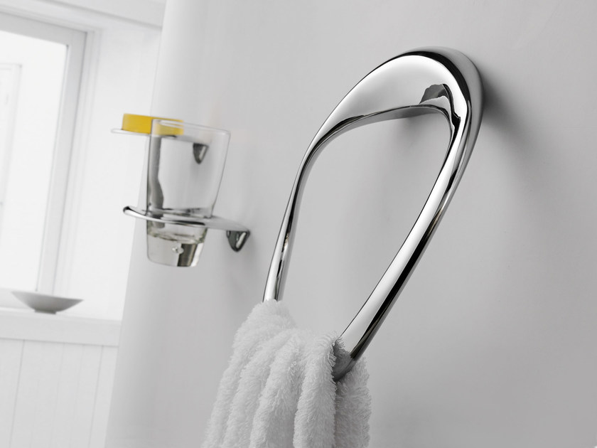 Chromed brass towel ring ETHER | Towel ring by JUSTIME