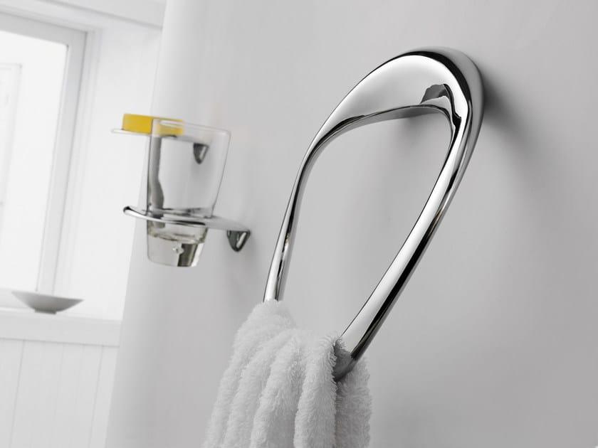 Porta asciugamani ad anello in ottone cromato ETHER | Porta asciugamani ad anello by JUSTIME