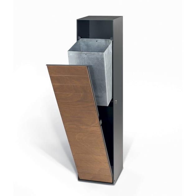 Steel litter bin TOWER by LAB23