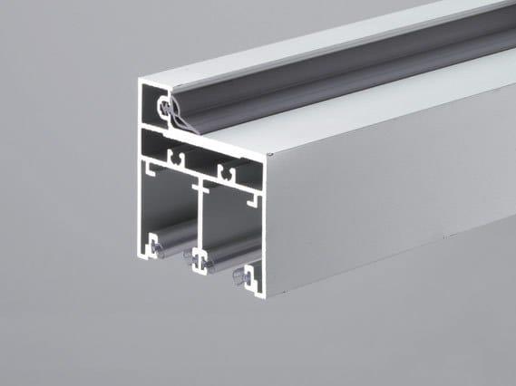Aluminium frames with fixed side panels TP-401 by Metalglas Bonomi