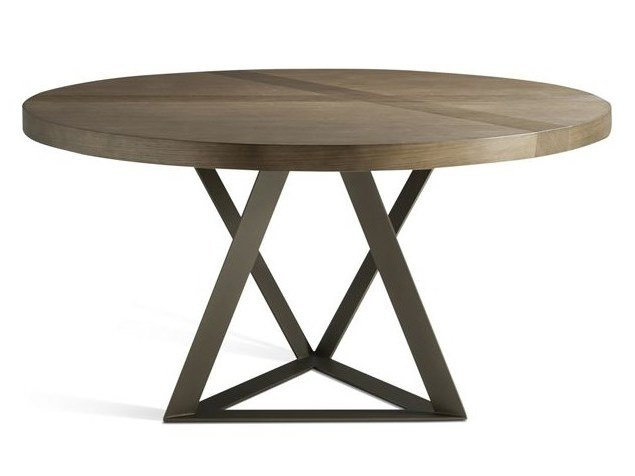 Extending round dining table TRACK | Round table by ROCHE BOBOIS