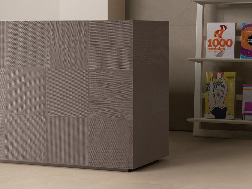 Indoor porcelain stoneware wall tiles TR3ND NEEDLE BROWN by Ergon by Emilgroup