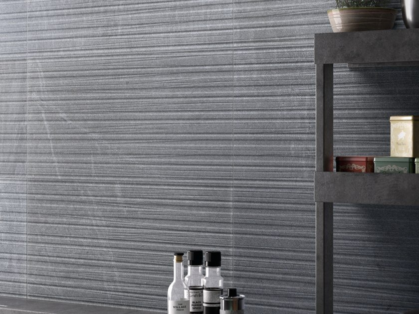 Porcelain stoneware wall/floor tiles with stone effect TRACCE DENIM by EmilCeramica by Emilgroup