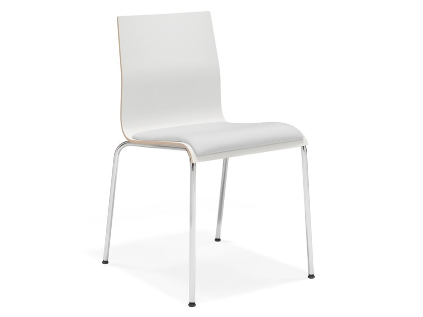 Upholstered stackable melamine training chair NOA III | Training chair by Casala