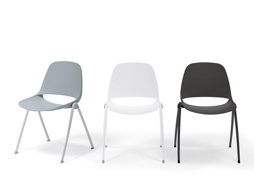 Stackable chair ECLIPSE | Stackable chair by Diemmebi