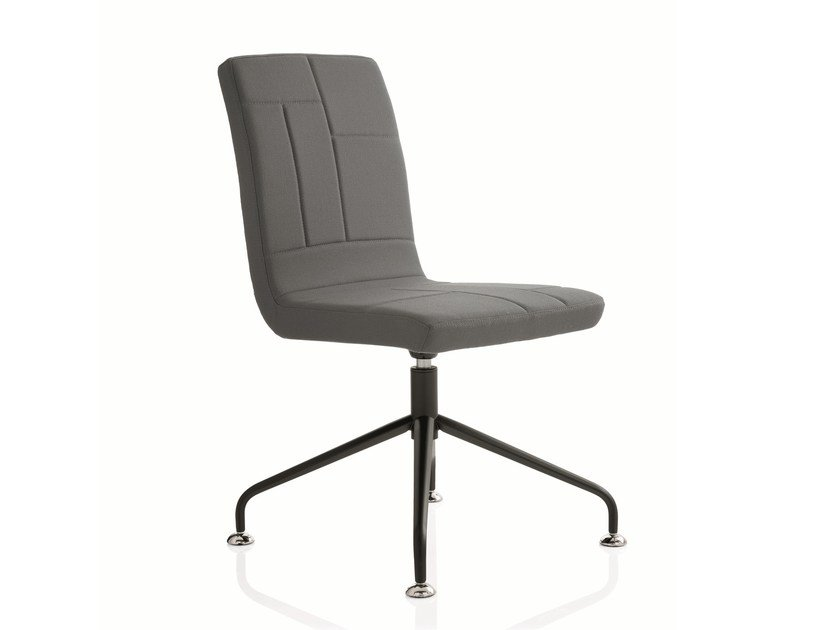 Swivel fabric task chair with 4-Spoke base PLAN CHAIR | Task chair with 4-Spoke base by Emmegi