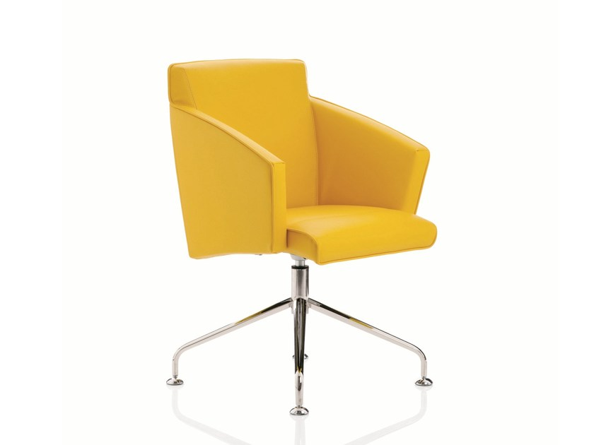 Swivel task chair with 4-Spoke base with armrests BUSINESS CLASS | Task chair with 4-Spoke base by Emmegi