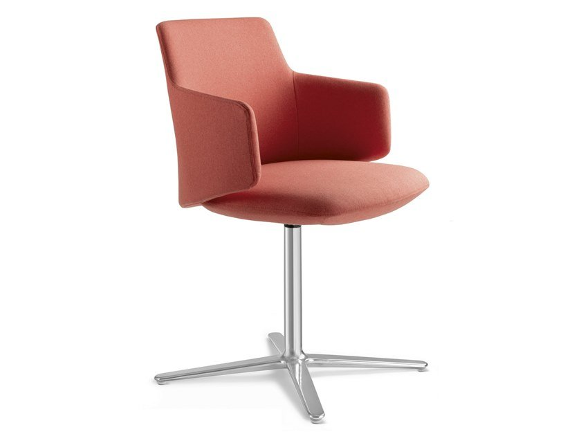 Fabric training chair with 4-spoke base MELODY MEETING   Training chair with 4-spoke base by LD Seating