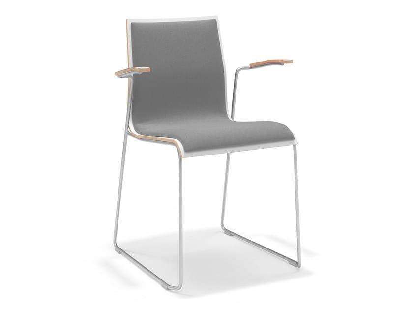 Sled base melamine training chair with armrests NOA I   Training chair with armrests by Casala