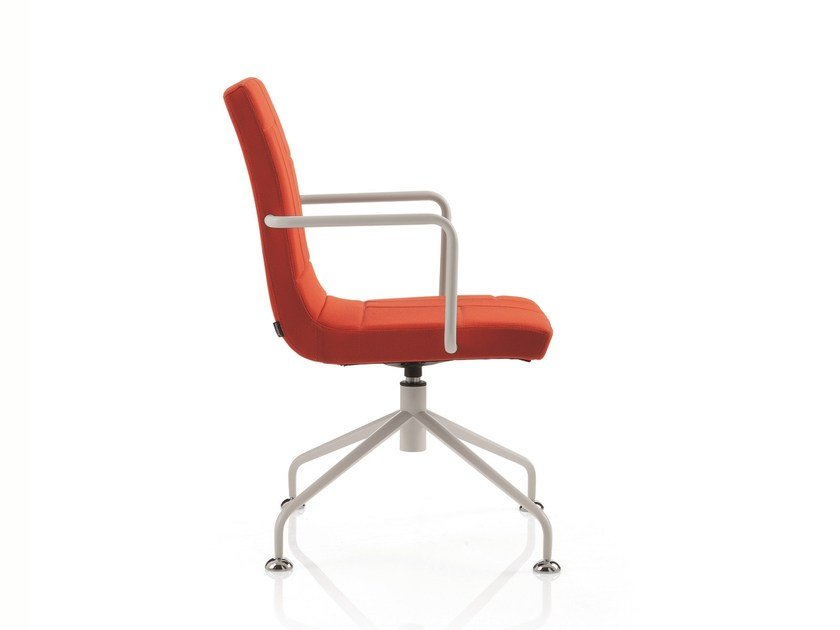 Swivel task chair with 4-Spoke base with armrests PLAN CHAIR | Swivel task chair by Emmegi
