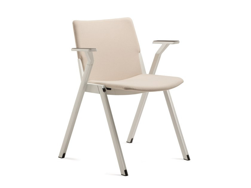 Stackable training chair with armrests CAVEA | Training chair with armrests by Emmegi