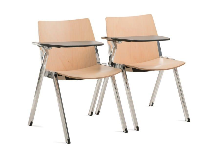 Sedie Ufficio Con Ribaltina : Sedia da conferenza impilabile con ribaltina cavea sedia da